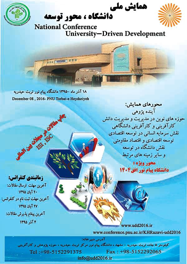 همایش ملی دانشگاه محور توسعههمایش ملی دانشگاه محور توسعه